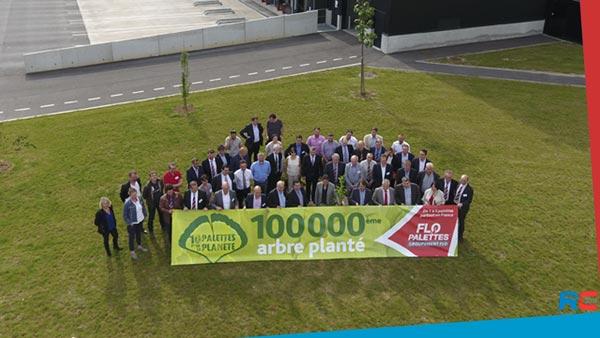 Opération «10 palettes pour la planète»: le 100.000 ème arbre planté en 2017