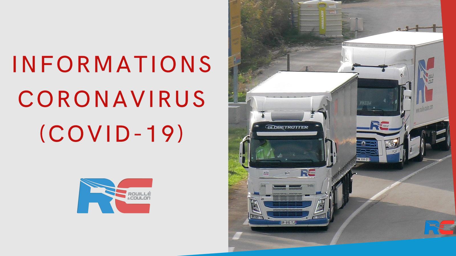 Info Covid-19 : maintien du transport routier et de la logistique