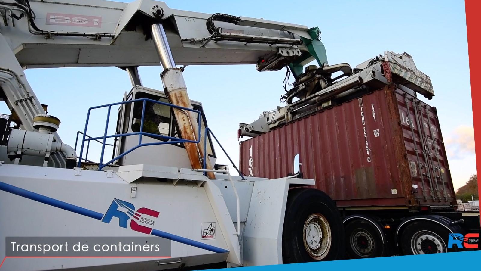 Port Marseille/Fos: manutention et transport de conteneurs